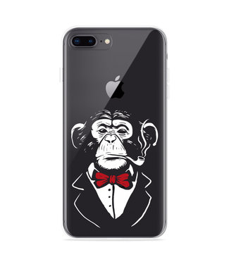 Just in Case iPhone 8 Plus Hoesje Chimp Smoking