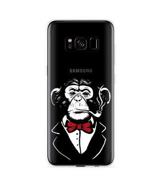 Just in Case Galaxy S8 Hoesje Chimp Smoking