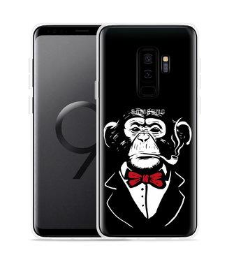 Just in Case Galaxy S9 Plus Hoesje Chimp Smoking