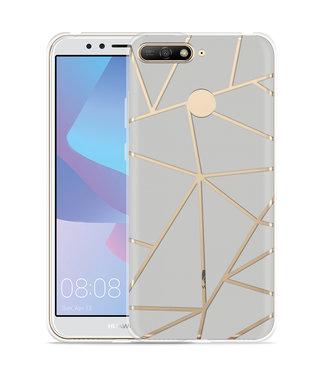 Just in Case Huawei Y6 2018 Hoesje Triangles