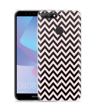 Just in Case Huawei Y6 2018 Hoesje Wavy Pink