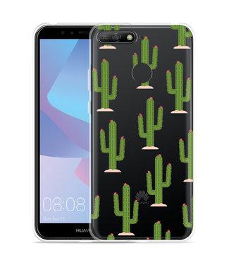Just in Case Huawei Y6 2018 Hoesje Cactus