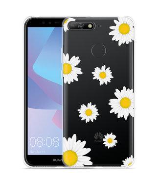 Just in Case Huawei Y6 2018 Hoesje Madeliefjes