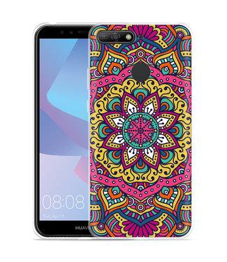 Just in Case Huawei Y6 2018 Hoesje Mandala Hippie