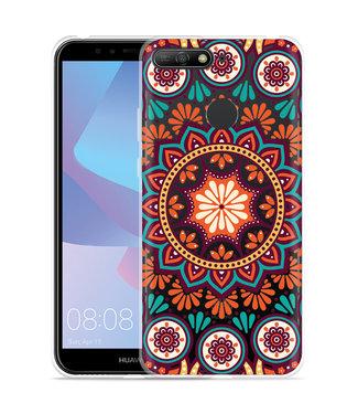 Just in Case Huawei Y6 2018 Hoesje Retro Mandala