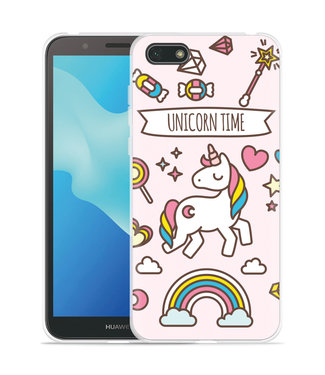 Just in Case Huawei Y5 2018 Hoesje Unicorn Time