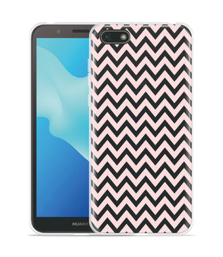 Just in Case Huawei Y5 2018 Hoesje Wavy Pink
