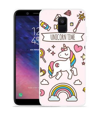 Just in Case Galaxy A6 2018 hoesje Unicorn Time