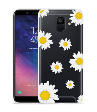 Just in Case Galaxy A6 2018 hoesje Madeliefjes