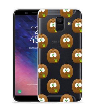 Just in Case Galaxy A6 2018 hoesje Crazy Kiwi