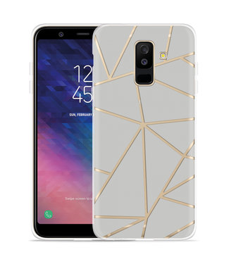 Just in Case Galaxy A6 Plus 2018 hoesje Triangles