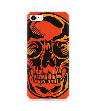 Just in Case iPhone 7 Hoesje Red Skull