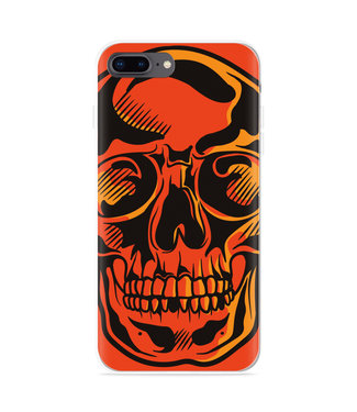 Just in Case iPhone 8 Plus Hoesje Red Skull