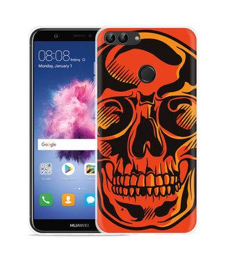 Just in Case Huawei P Smart Hoesje Red Skull