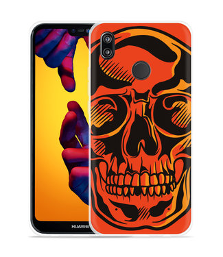 Just in Case Huawei P20 Lite Hoesje Red Skull