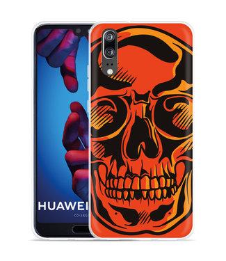 Just in Case Huawei P20 Hoesje Red Skull