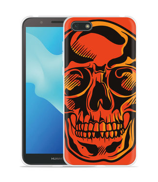 Just in Case Huawei Y5 2018 Hoesje Red Skull