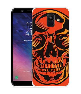 Just in Case Galaxy A6 2018 hoesje Red Skull
