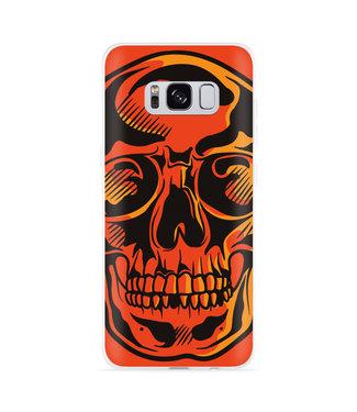 Just in Case Galaxy S8 Hoesje Red Skull