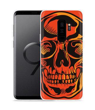 Just in Case Galaxy S9 Plus Hoesje Red Skull