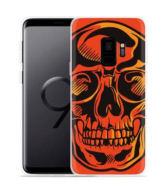 Just in Case Galaxy S9 Hoesje Red Skull