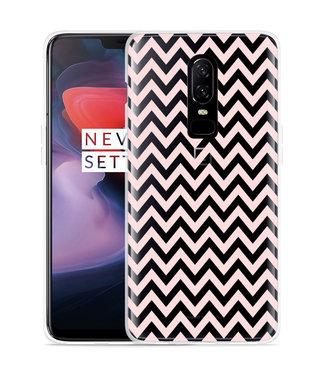 Just in Case OnePlus 6 Hoesje Wavy Pink