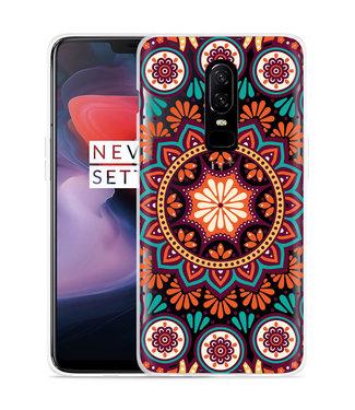 Just in Case OnePlus 6 Hoesje Retro Mandala