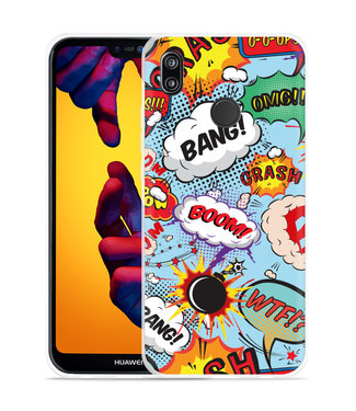 Just in Case Huawei P20 Lite Hoesje Comic