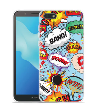 Just in Case Huawei Y5 2018 Hoesje Comic
