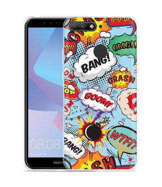 Just in Case Huawei Y6 2018 Hoesje Comic