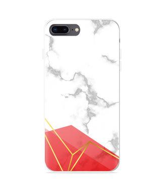 Just in Case iPhone 8 Plus Hoesje Trendy Marmer