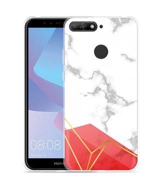 Just in Case Huawei Y6 2018 Hoesje Trendy Marmer