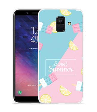 Just in Case Galaxy A6 2018 hoesje Sweet Summer