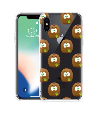 Just in Case Apple iPhone Xs Max Hoesje Crazy Kiwi