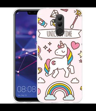 Just in Case Huawei Mate 20 Lite Hoesje Unicorn Time