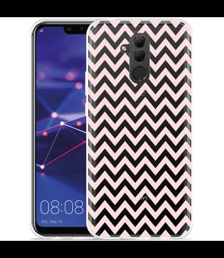 Just in Case Huawei Mate 20 Lite Hoesje Wavy Pink