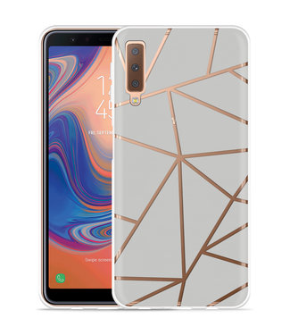 Just in Case Galaxy A7 2018 Hoesje Triangles