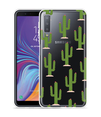 Just in Case Galaxy A7 2018 Hoesje Cactus