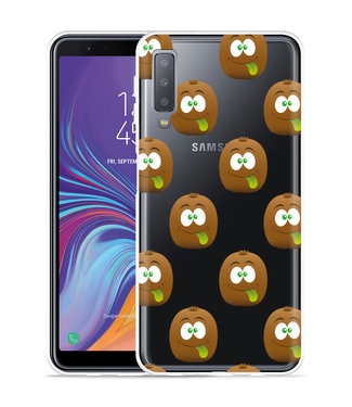 Just in Case Galaxy A7 2018 Hoesje Crazy Kiwi