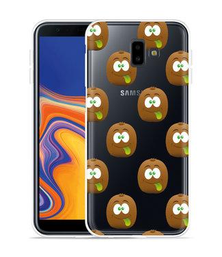 Just in Case Galaxy J6 Plus Hoesje Crazy Kiwi