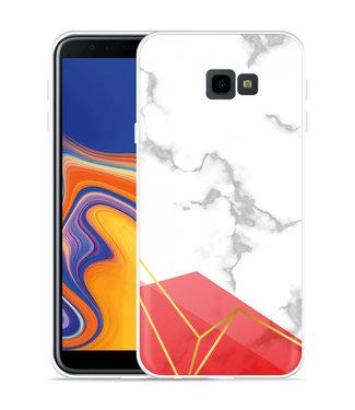 Just in Case Galaxy J4 Plus Hoesje Trendy Marmer