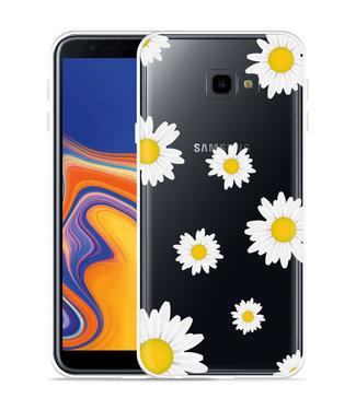 Just in Case Galaxy J4 Plus Hoesje Madeliefjes