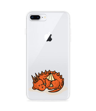 Just in Case iPhone 8 Plus Hoesje Sleeping Dragon