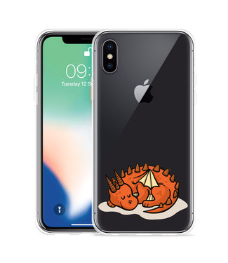 Just in Case Apple iPhone Xs Max Hoesje Sleeping Dragon