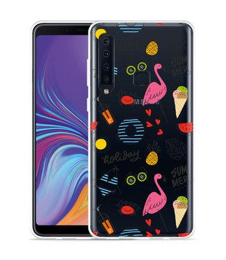 Just in Case Galaxy A9 2018 Hoesje Summer Flamingo