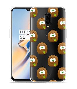 Just in Case OnePlus 6T Hoesje Crazy Kiwi