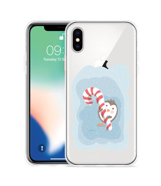 Just in Case Apple iPhone Xs Max Hoesje Candy Pinquin
