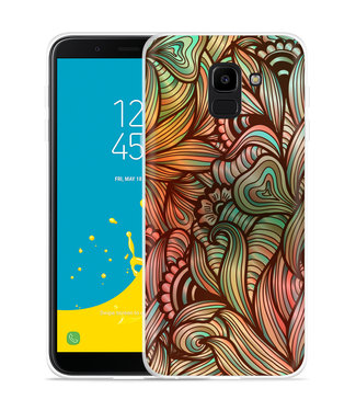 Just in Case Galaxy J6 Hoesje Abstract colorful
