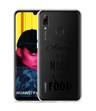 Just in Case Huawei P Smart 2019 Hoesje Mood for Food Black