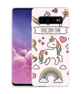 Just in Case Galaxy S10 Hoesje Unicorn Time